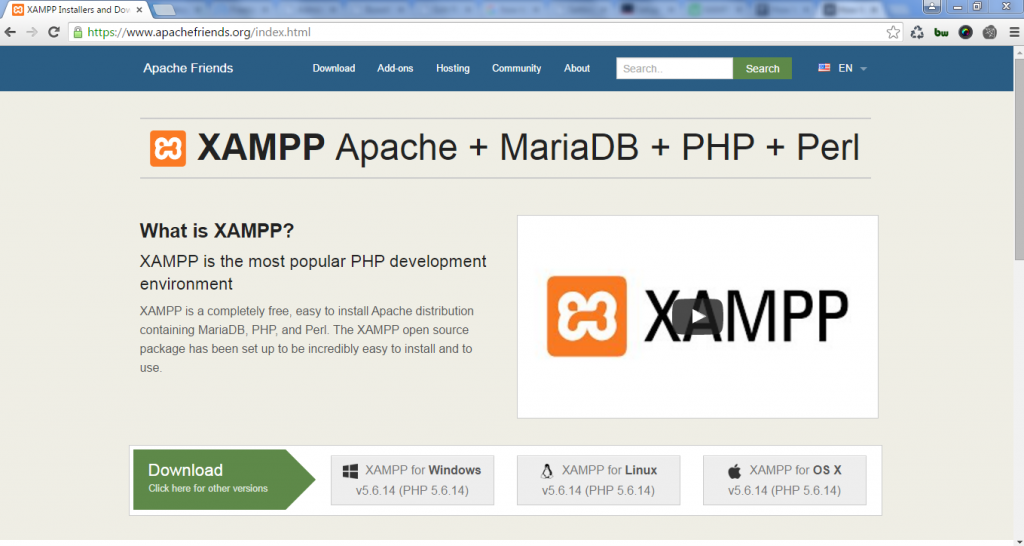 XAMPP website